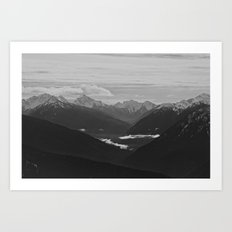 Mountain Landscape Black… Art Print