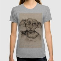 Free Elf Full Length Womens Fitted Tee Athletic Grey SMALL