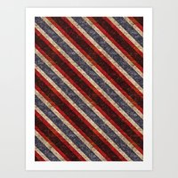Stone Stripes Art Print