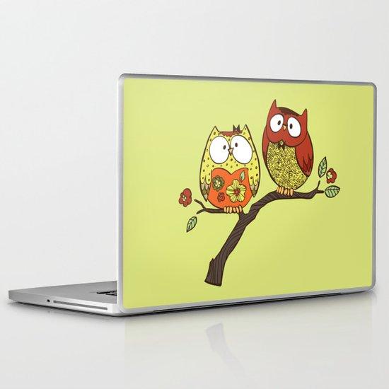 Decorative Owls Laptop & iPad Skin