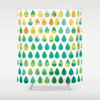 Monsoon Rain Shower Curtain