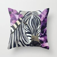 Zebra! Throw Pillow