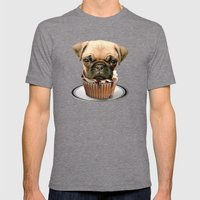 pupcake Mens Fitted Tee Tri-Grey SMALL