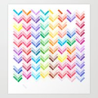 Colourful pattern Art Print