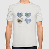 Shoot From The Heart Mens Fitted Tee Silver SMALL