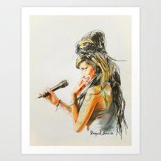 Winehouse Portrait 2 Art Print