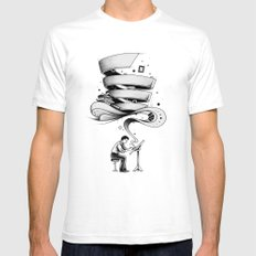 Creative Flow Mens Fitted Tee White SMALL