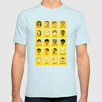 Community Guess Who Face… Mens Fitted Tee Light Blue SMALL