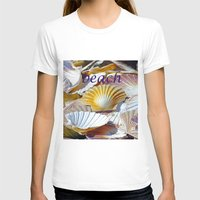 Shells Womens Fitted Tee White SMALL