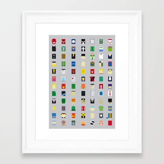Minimalism Villains Framed Art Print