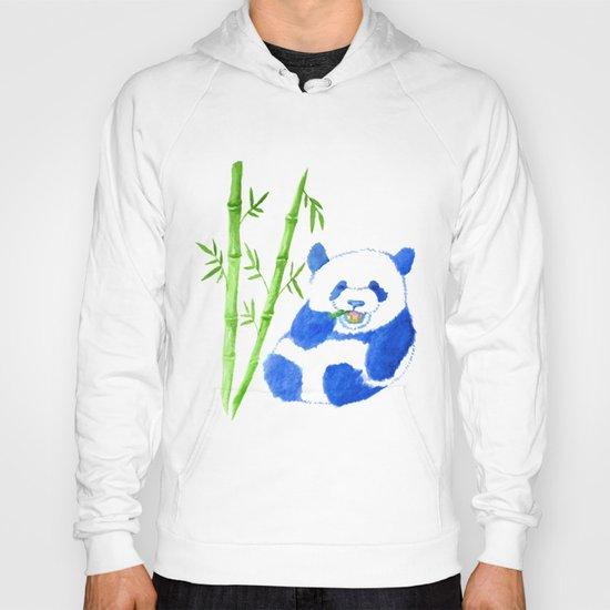 Panda eating bamboo Watercolor Print Hoody