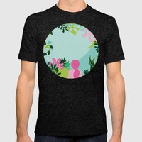 Yoga Garden Mens Fitted Tee Tri-Black SMALL