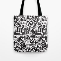 ABSTRACT 4 - BLACK & WHITE Tote Bag