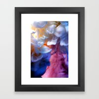 Milk Petals Framed Art Print