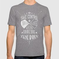 Take Control Mens Fitted Tee Tri-Grey SMALL
