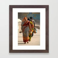 Walking Along the Ghats Framed Art Print