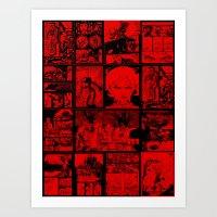 RED - Anne Frankenstein Book I - Resurrection  Art Print