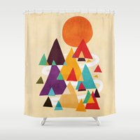 Let's visit the mountains Shower Curtain