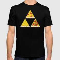 The Pizza Triforce Mens Fitted Tee SMALL Black