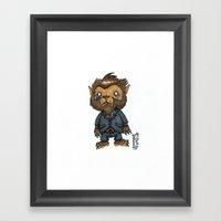 Bugbear has a job interview Framed Art Print