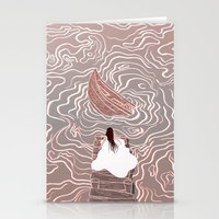 Sinking boat Stationery Cards