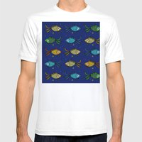 Fishy Fishy Mens Fitted Tee White SMALL