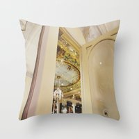 Cafe In Paris Throw Pillow