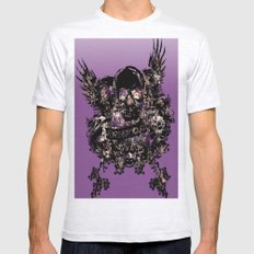 Skull Pattern With Flowe… Mens Fitted Tee Ash Grey SMALL