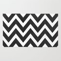 black chevron Rug