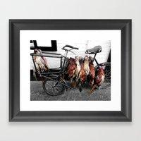 Butcher's Bike Framed Art Print