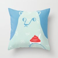 Polar Beverage Throw Pillow