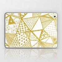 Golden Doodle Triangles Laptop & iPad Skin