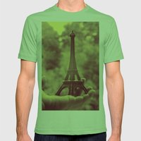 holding the tower Mens Fitted Tee Grass SMALL