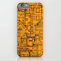 Houses - Orange iPhone 6 Slim Case