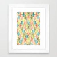 Citronique Series: Forêt Sorbet Framed Art Print