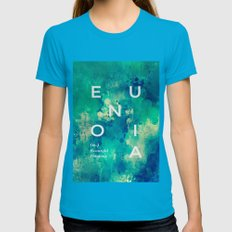 Eunoia #society6 Womens Fitted Tee Teal SMALL