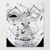 snow soldier Canvas Print