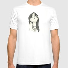 Theda Bara White Mens Fitted Tee SMALL