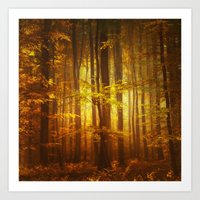 Yellow Fall Art Print