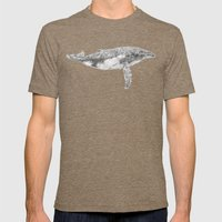 A Humpback Whale Mens Fitted Tee Tri-Coffee SMALL