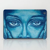 look at me-blue iPad Case
