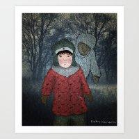 Посмотри! Йети - Beware of the Yeti!  Art Print