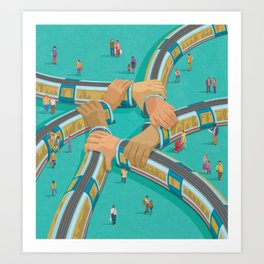 Art Print - Train link - John Holcroft