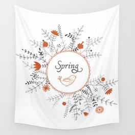 Wall Tapestry - Floral background - UniqueD