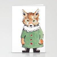 Bear Fox Stationery Cards