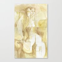 two headed Canvas Print