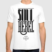 soul rebel Mens Fitted Tee White SMALL
