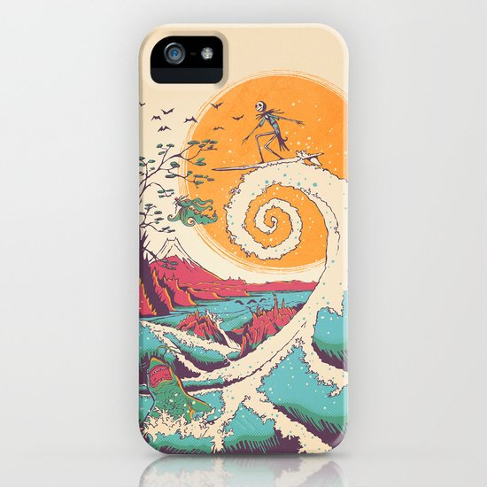 Surf Before Christmas iPhone & iPod Case