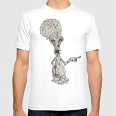Zombie Roger Mens Fitted Tee White SMALL