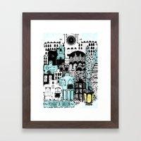 Midnight in Barcelona Framed Art Print